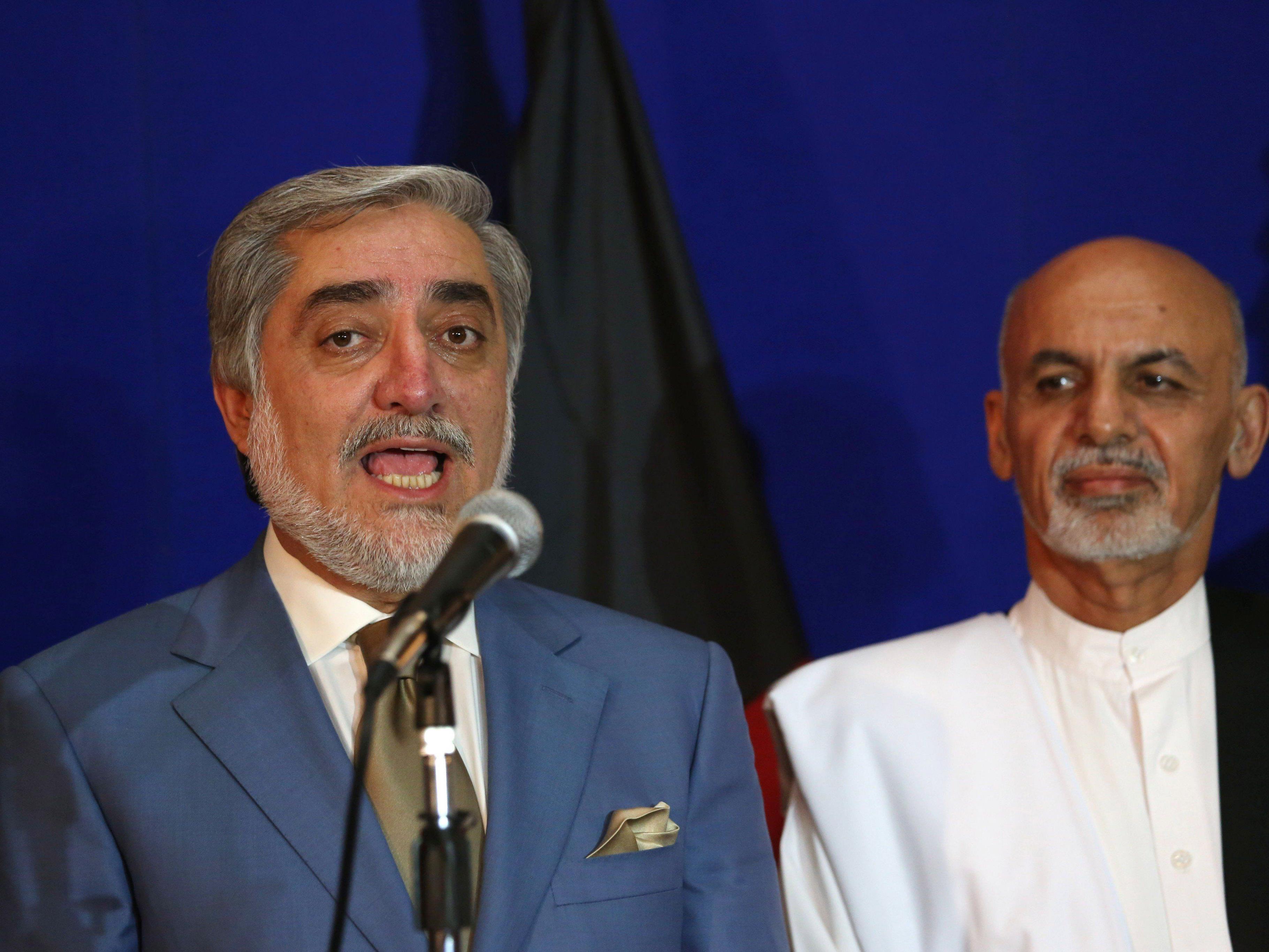 Die beiden Präsidentschaftskandidaten einigen sich auf eine Einheitsregierung.