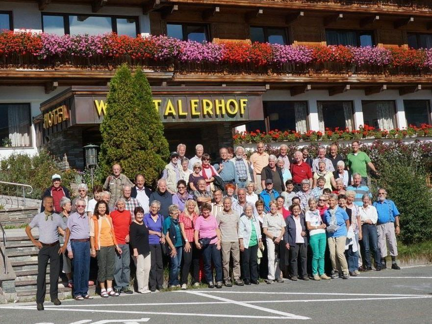 Die Seniorengruppe des Alpenverein Rankweil auf Wanderwoche