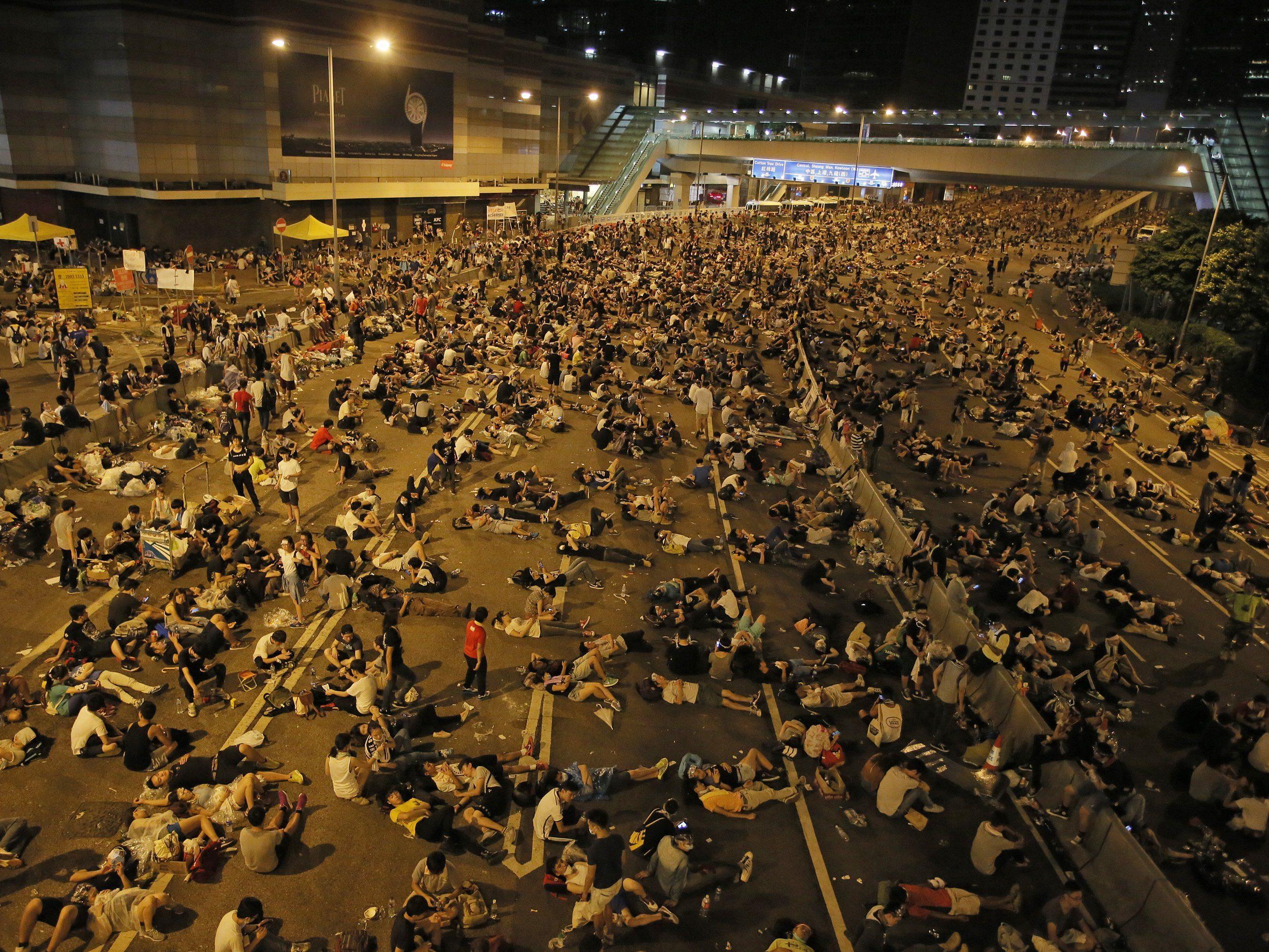 Demonstrationen laut Regierung inzwischen allmählich abgeflaut.