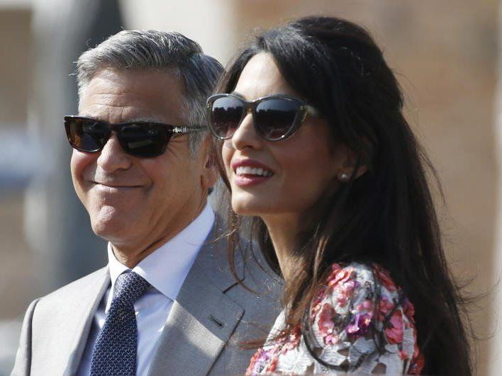 George Clooney mit Frau Amal Alamuddin