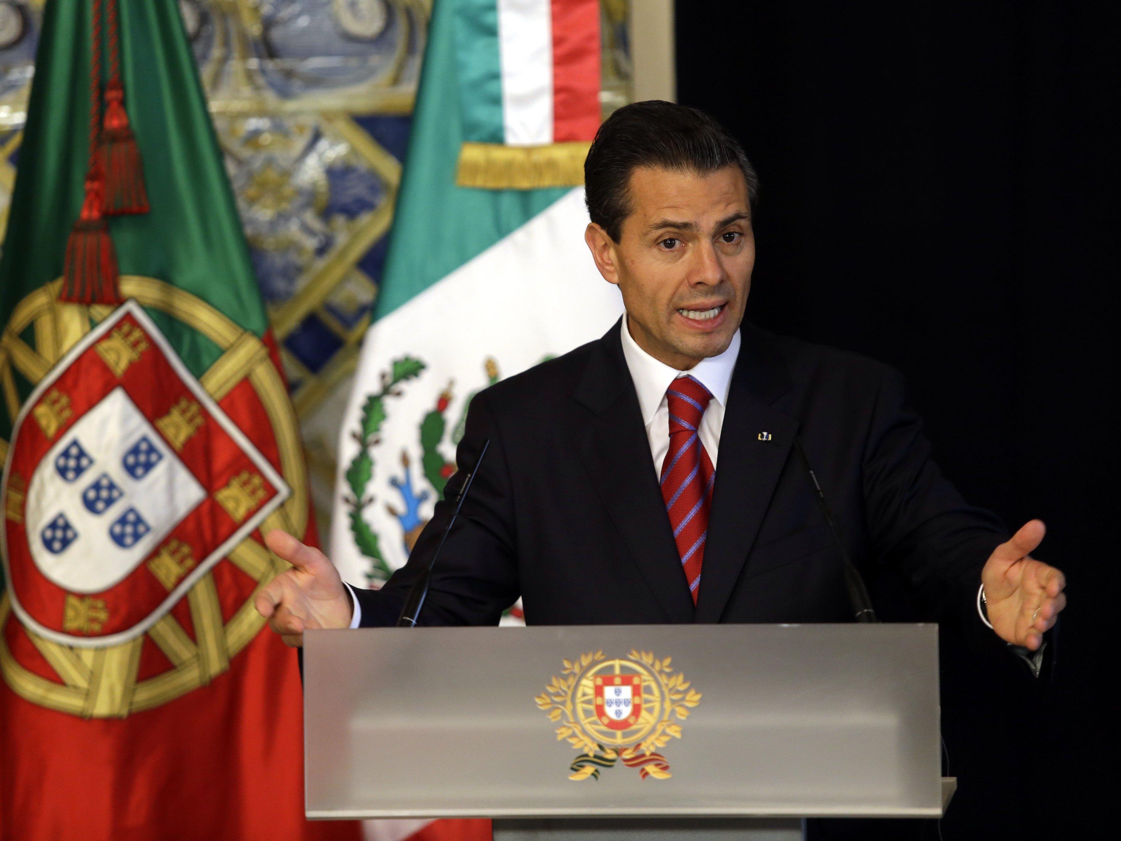 Der Staatschef Enrique Pena Nieto berichtet von weniger Drogenkriminalität.