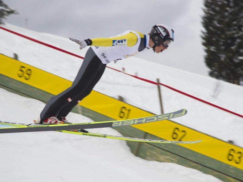 Der Dornbirner Felix Greber gewinnt beim Alpencup