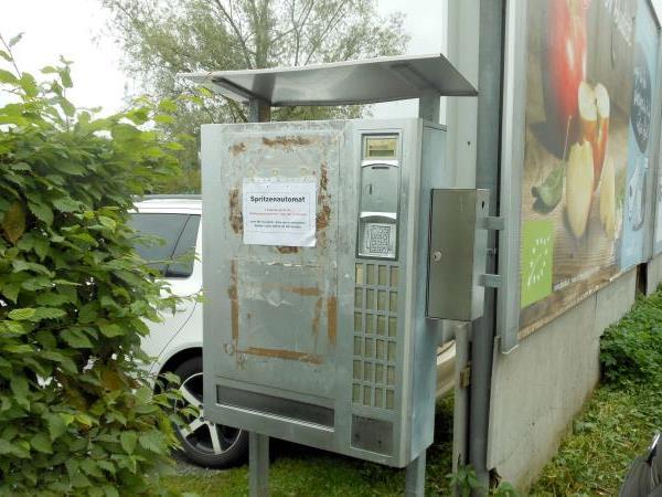 Der Automat steht schon seit vielen Jahren an dieser Stelle und wird laufend genutzt.