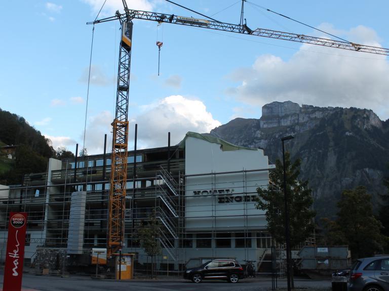 """Eines der laufenden Großvorhaben betrifft das Mellauer Traditionshaus """"Engel"""", das umfassend modernisiert und erweitert wird."""