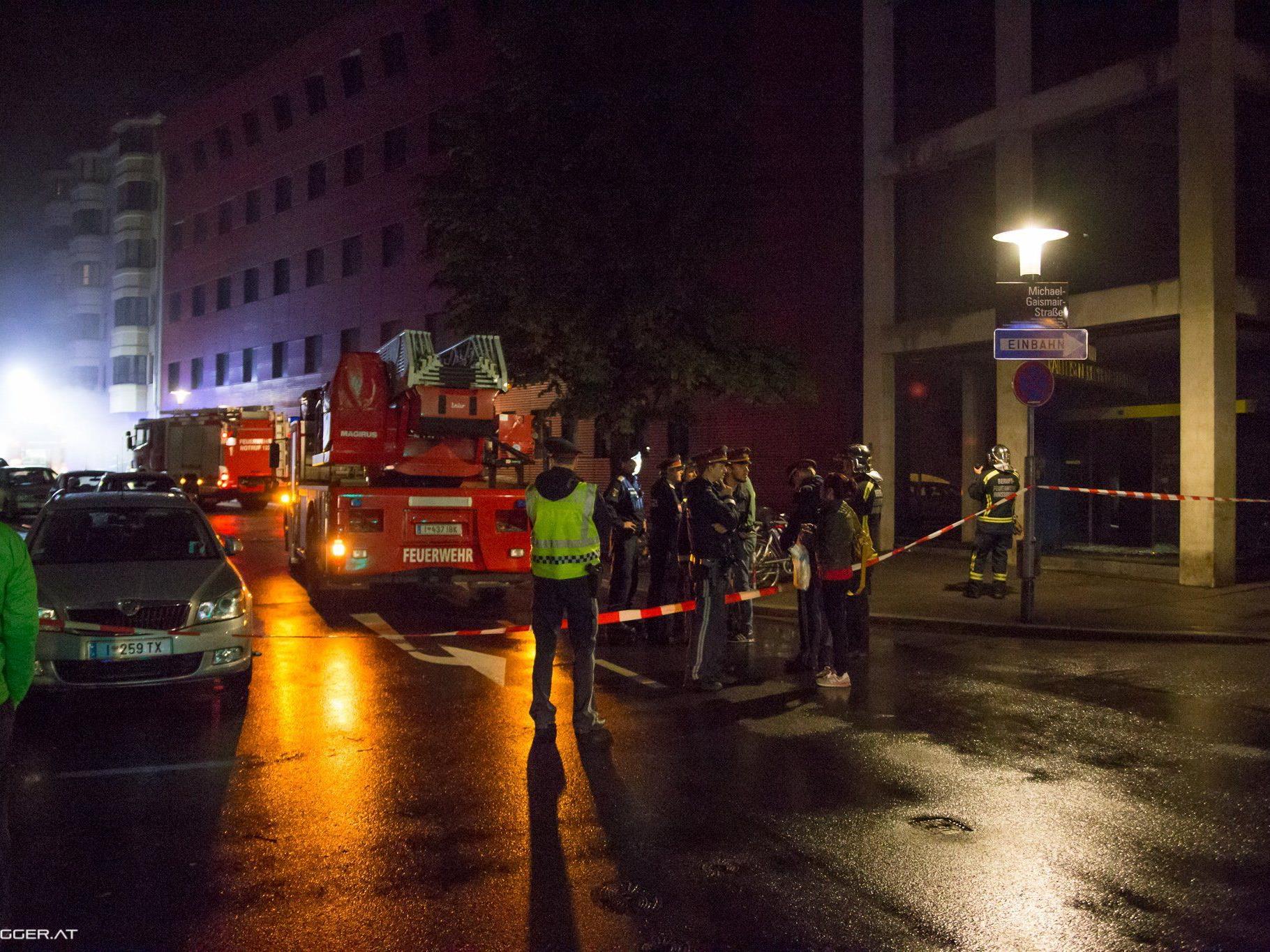 Explosion in Innsbrucker Innenstadt - hoher Sachschaden, keine Verletzten.