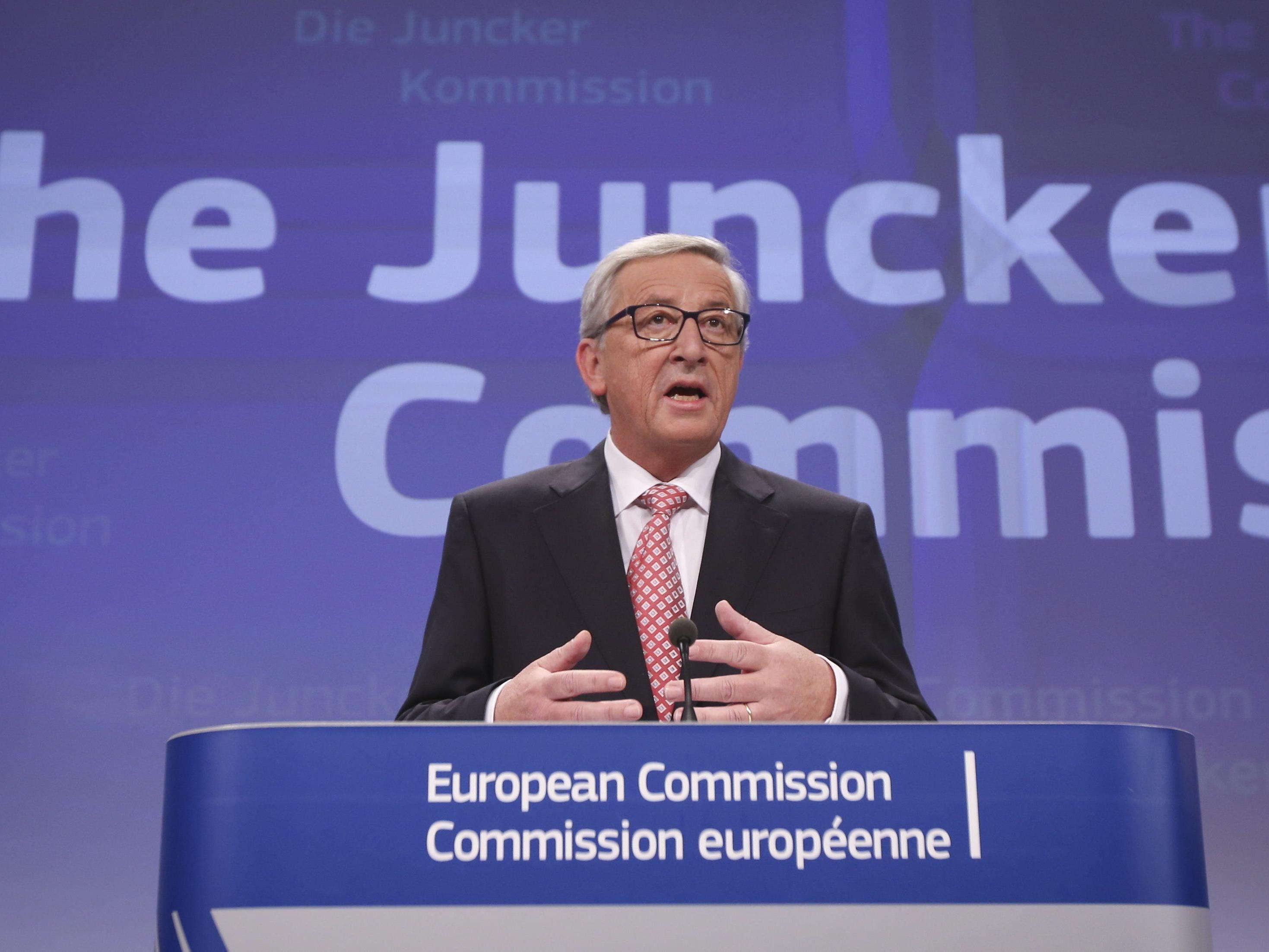 Juncker hat am Mittwoch sein Team, die neue EU-Kommission, präsentiert.