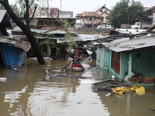 Schwere Überschwemmungen im Norden von Indien