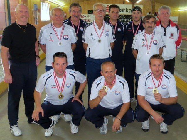Galeb Lustenau holte bei der Dreier-ÖM Gold, Silber und Bronze.
