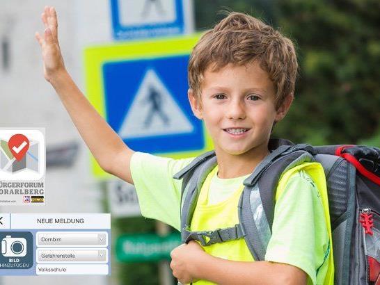Auf dem Weg zur Schule lauern Gefahren - jetzt im Bürgerforum Vorarlberg melden.