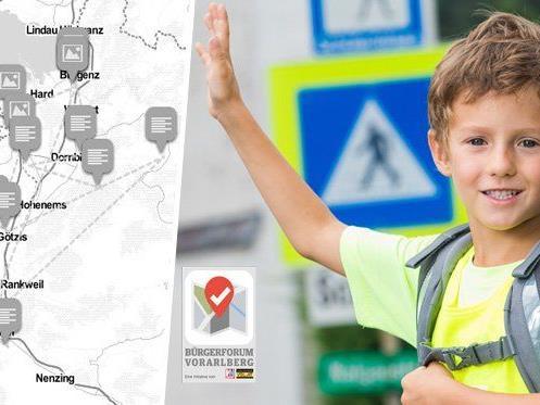 Helen Sie mit den Weg zur Schule oder in den Kindergarten sicherer zu machen.