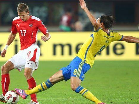 Spannende Partie: Österreich gegen Schweden.