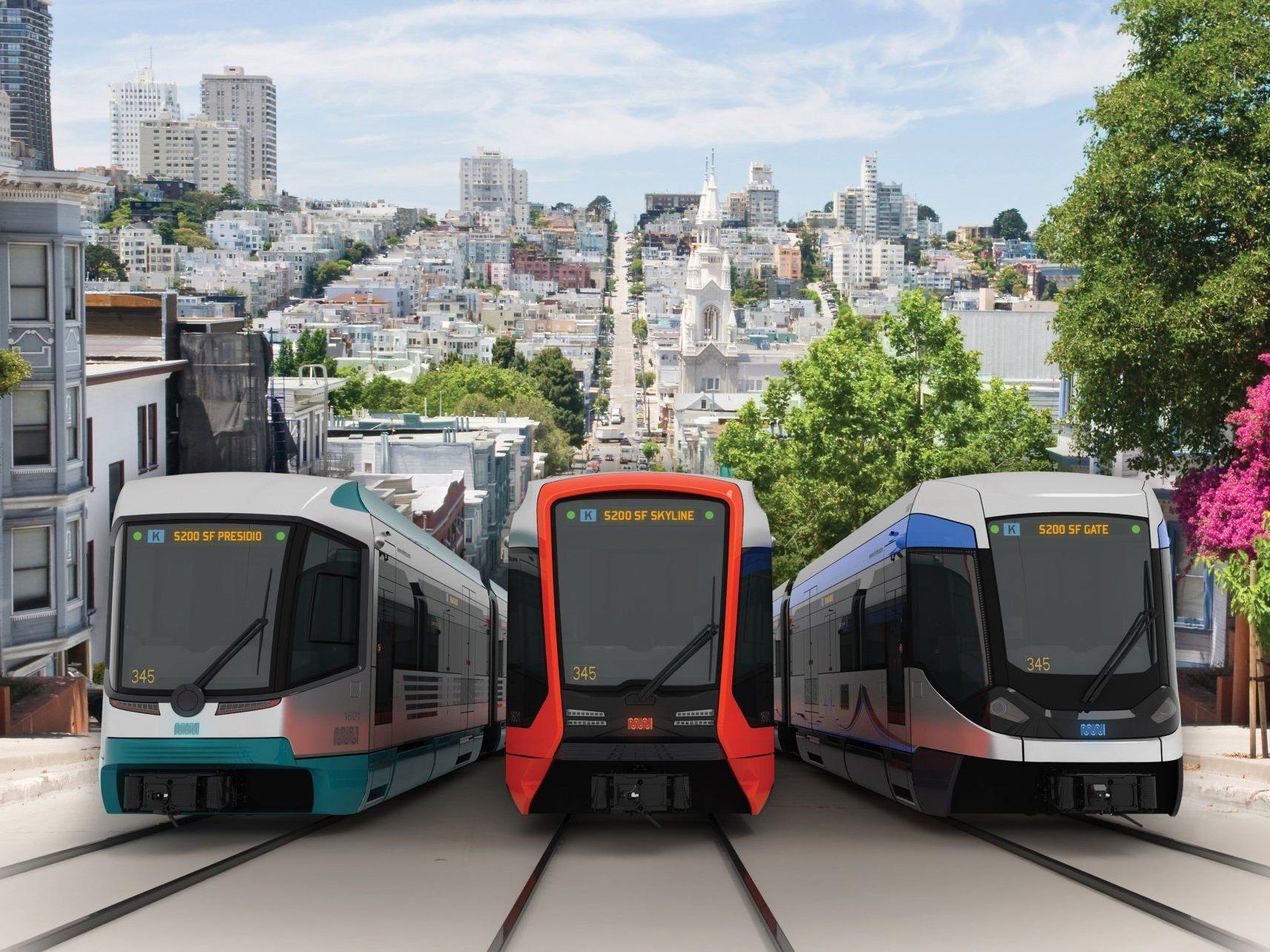 : Drei von Siemens vorgeschlagene Zugdesignvarianten.