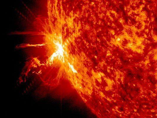 Aufnahmen des Sonnensturms