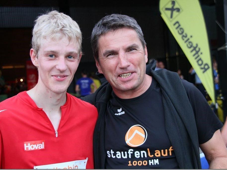 Der Dornbirner Jakob Mayer gewann überlegen den Business Run im Messegelände.