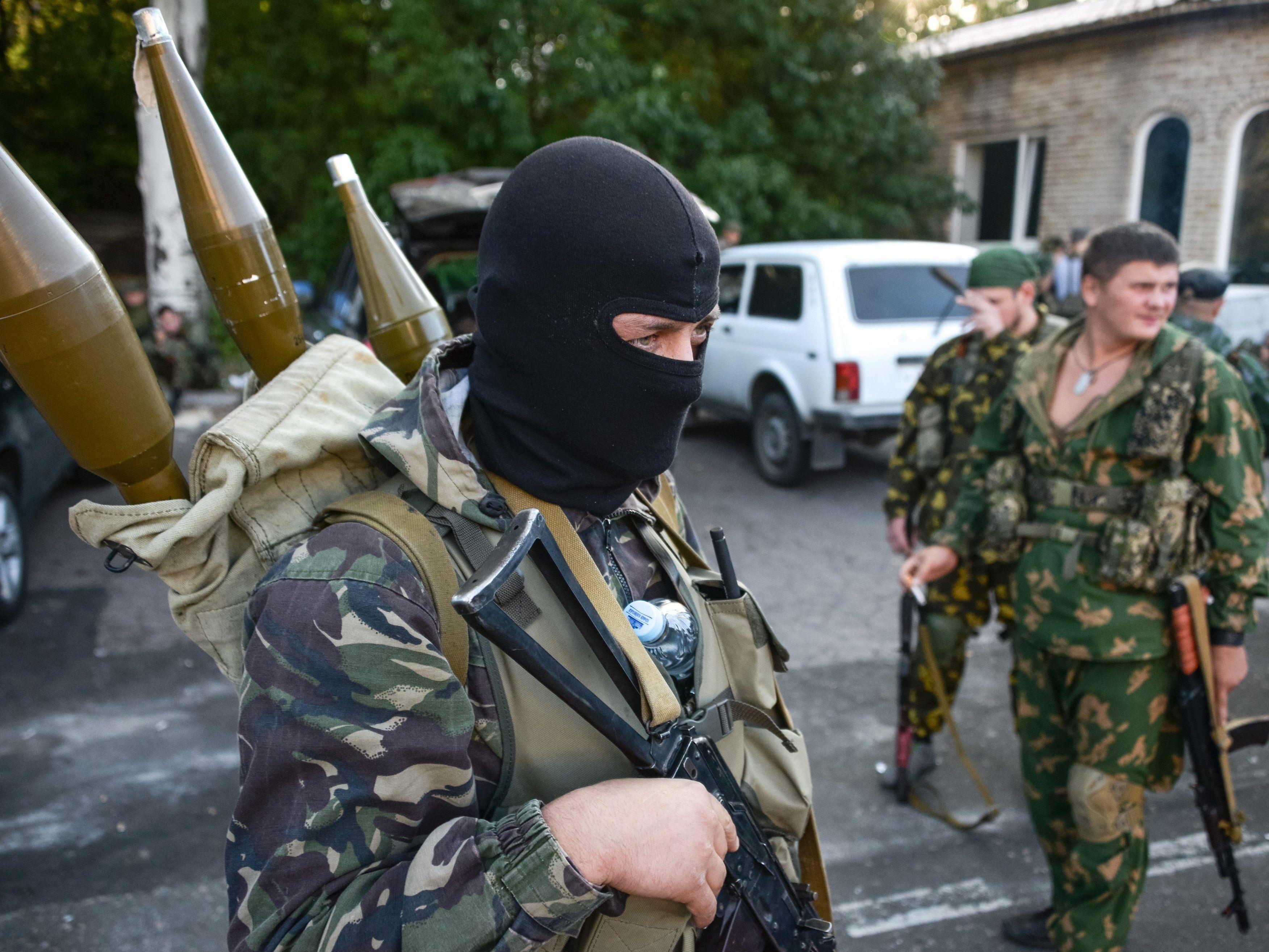 Pro-Russische Rebellen auf dem Vormarsch.
