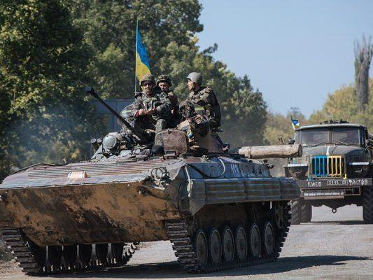 Ukrainische Soldaten im Einsatz