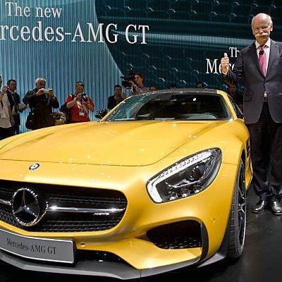 Zetsche und der neue AMG-GT strahlen um die Wette