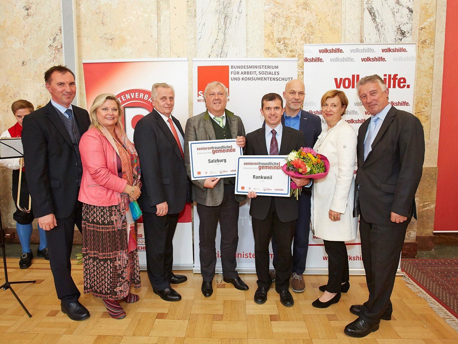 """Die Marktgemeinde Rankweil erreichte in der Kategorie """"Über 10.000 Einwohner"""" hinter Salzburg den zweiten Platz."""