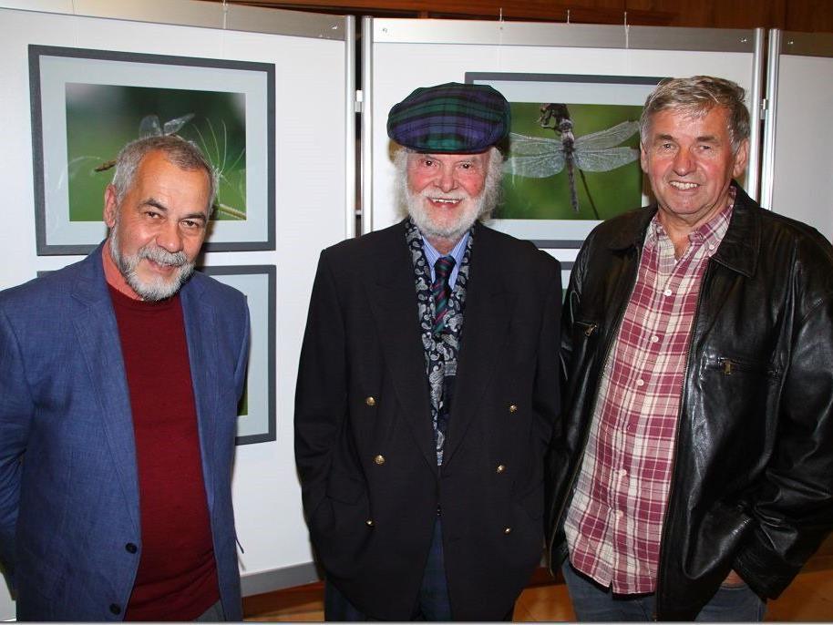 Dietmar Wanko, Willi Schmidt und Luggi Knobel stellen gemeinsam Bilder im Seehotel am Kaiserstrand aus.
