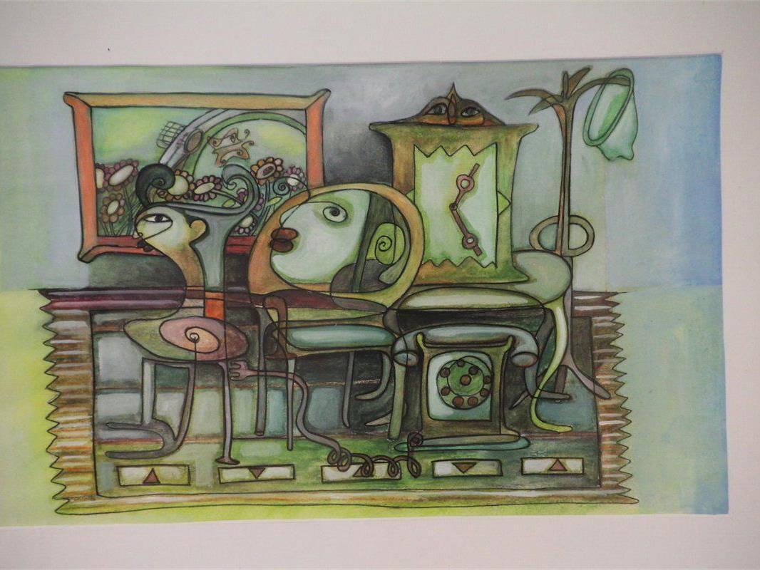 Der bulgarische Künstler zeigt seine nach Harmonie und Schönheit strebenden Kunstwerke.