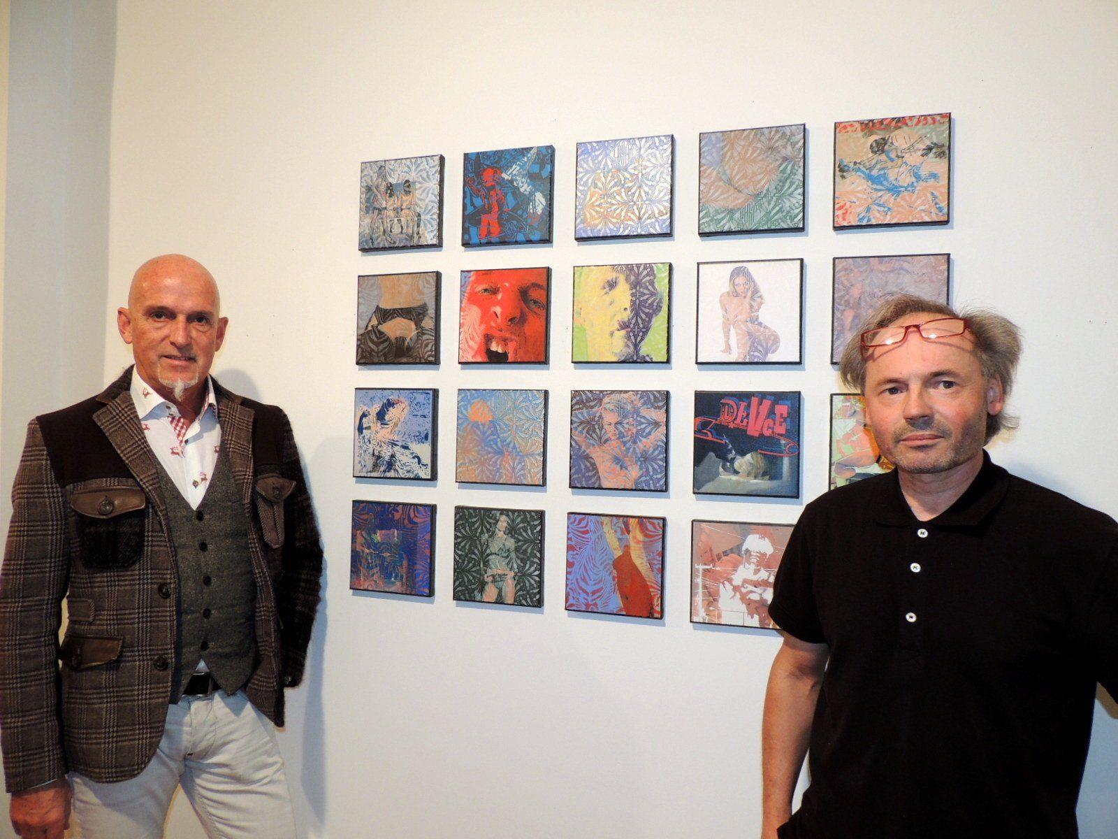 Künstler German Bolter mit Galerist Marxx Bosch
