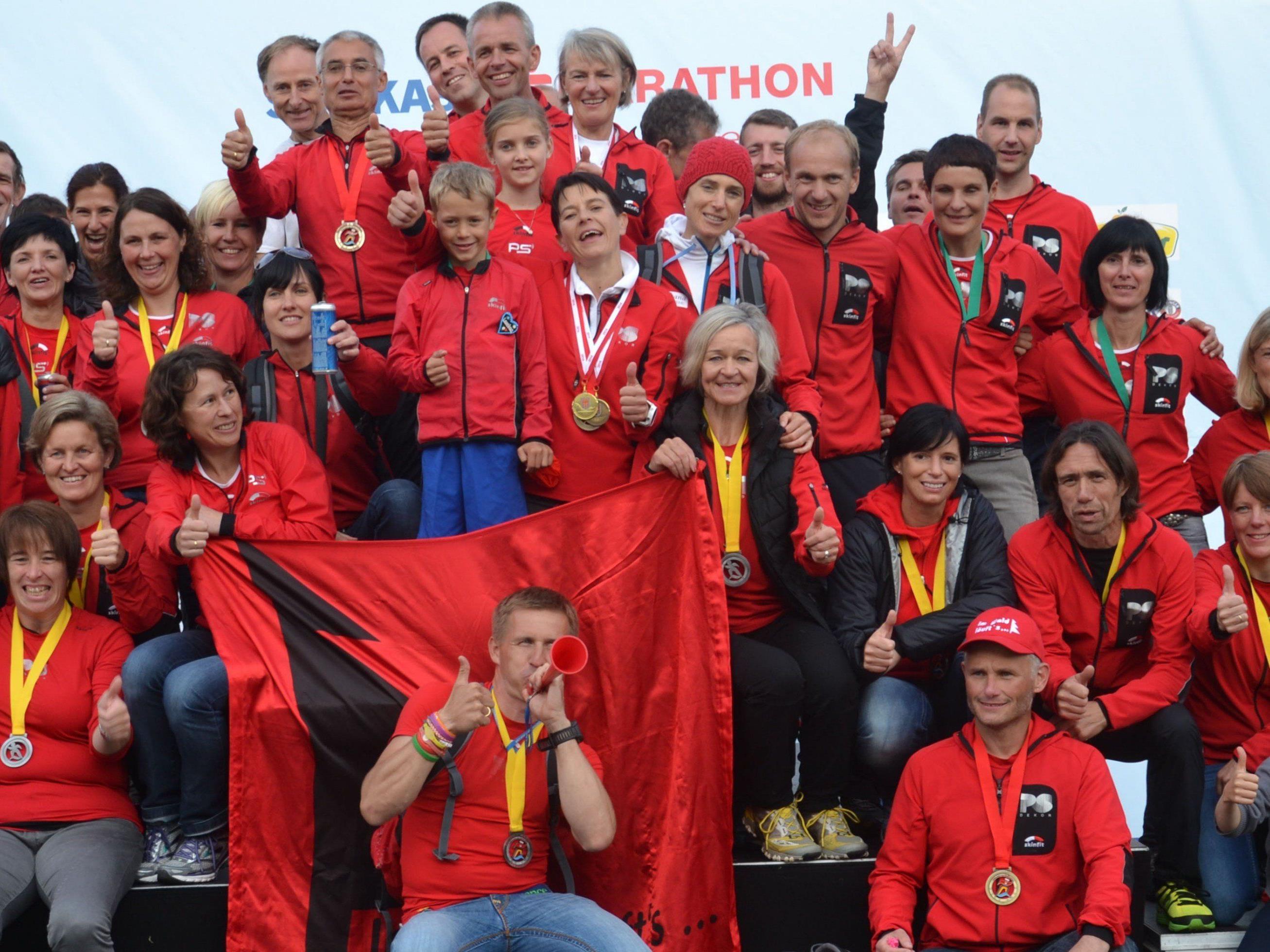 55 Läufer von 9 bis 60 Jahren