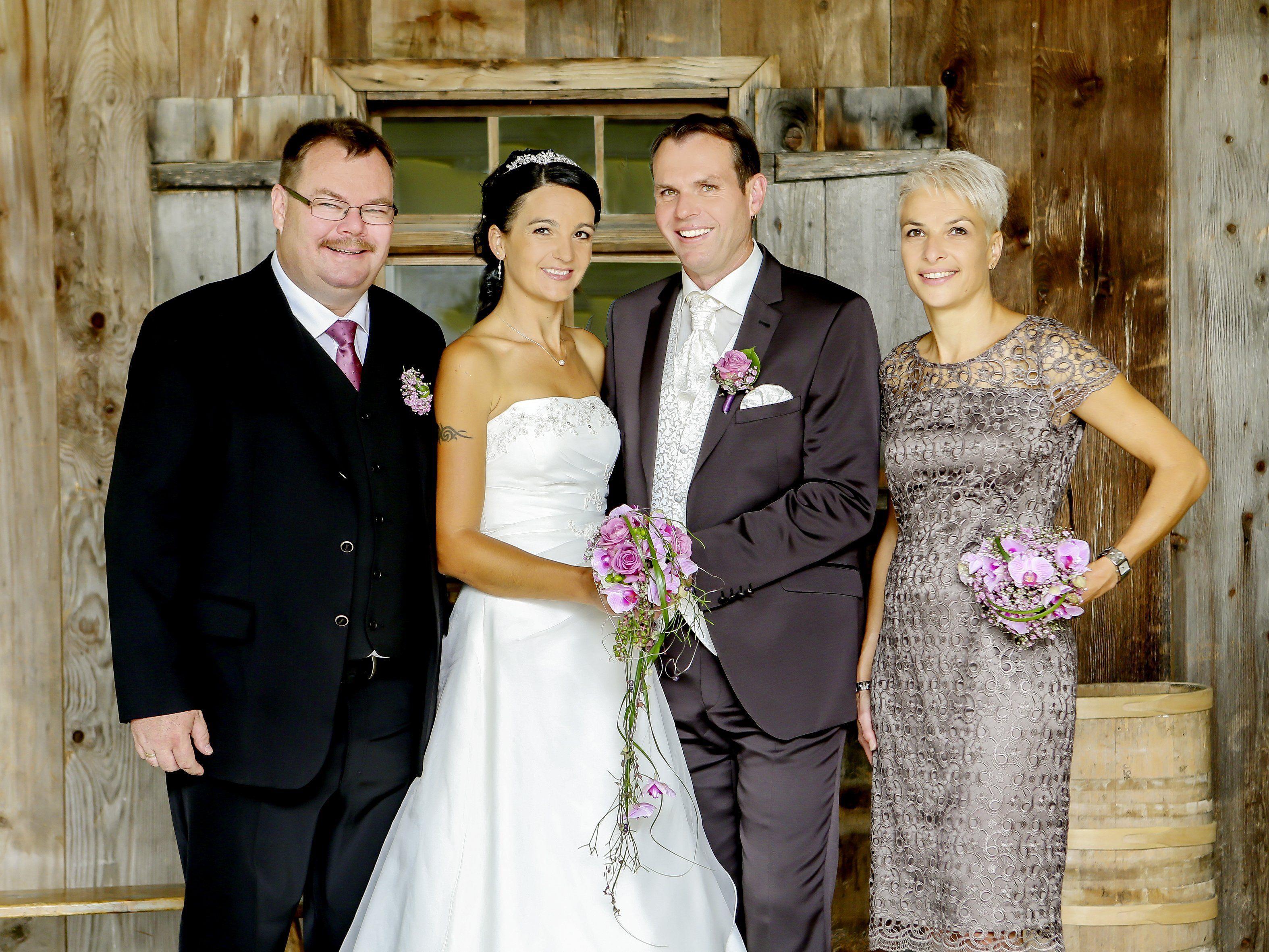 Bianka und Gottlieb Hartmann haben in der Kirche Düns geheiratet