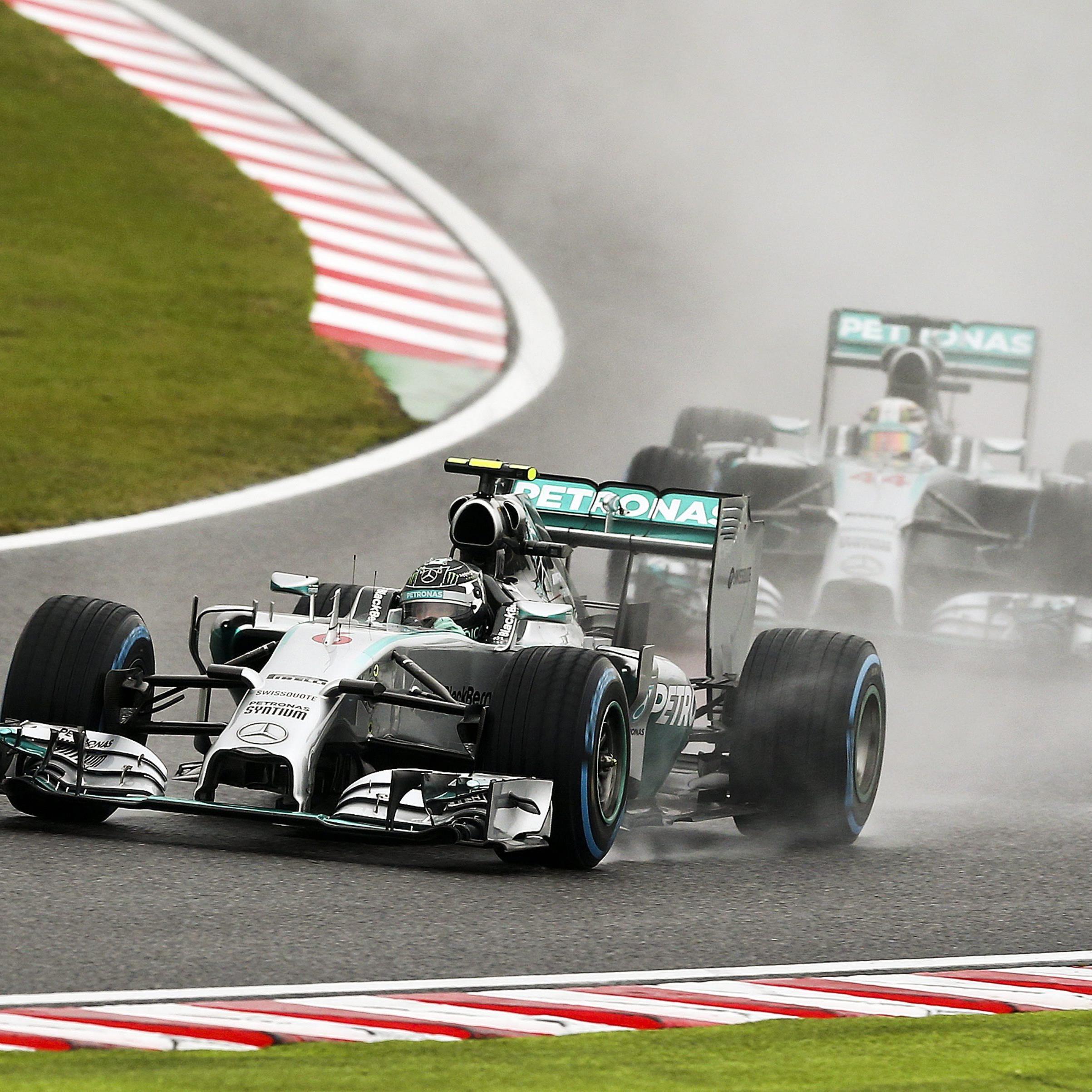 Hamilton siegte vor Rosberg - Marussia-Pilot Bianchi verletzt und mit Helikopter abtransportiert.