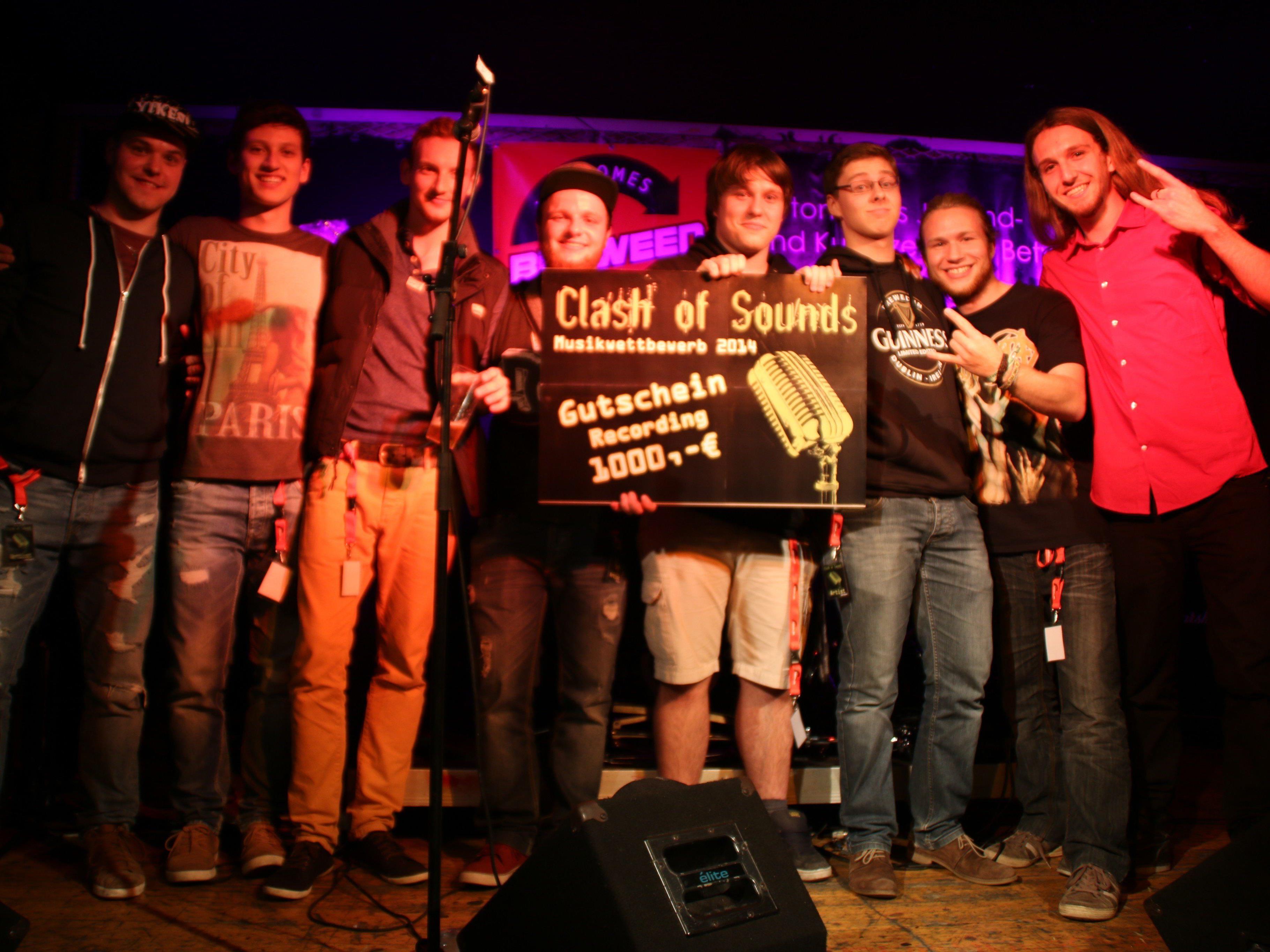 Dustskill aus Tettnang (D) und Snowflake aus Liechtenstein teilten sich den ersten Platz beim internationalen Musikwettbewerb 2014