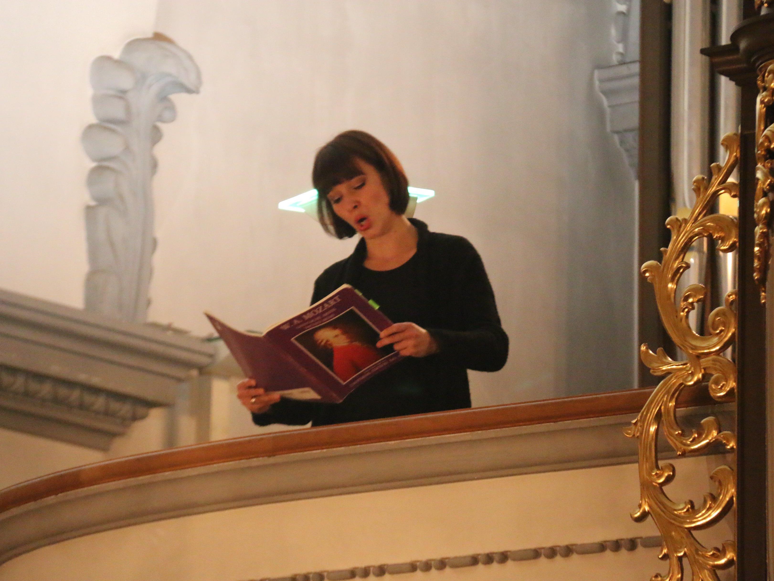 """ECHO-Klassik-Preisträgerin Miriam Feursinger präsentierte ein faszinierendes """"musikalisches Gebet""""."""