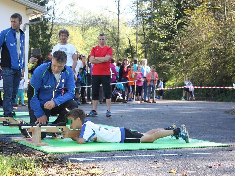 Die neue Biathlon-Trainingsanlage in Egg wurde ausgiebig getestet.
