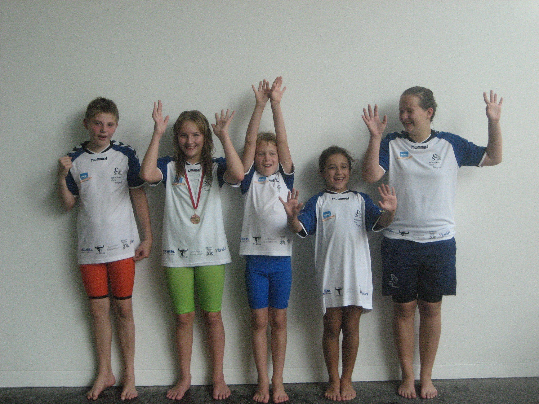 vlnr: Jonas, Christina, Markus, Iva und Elena
