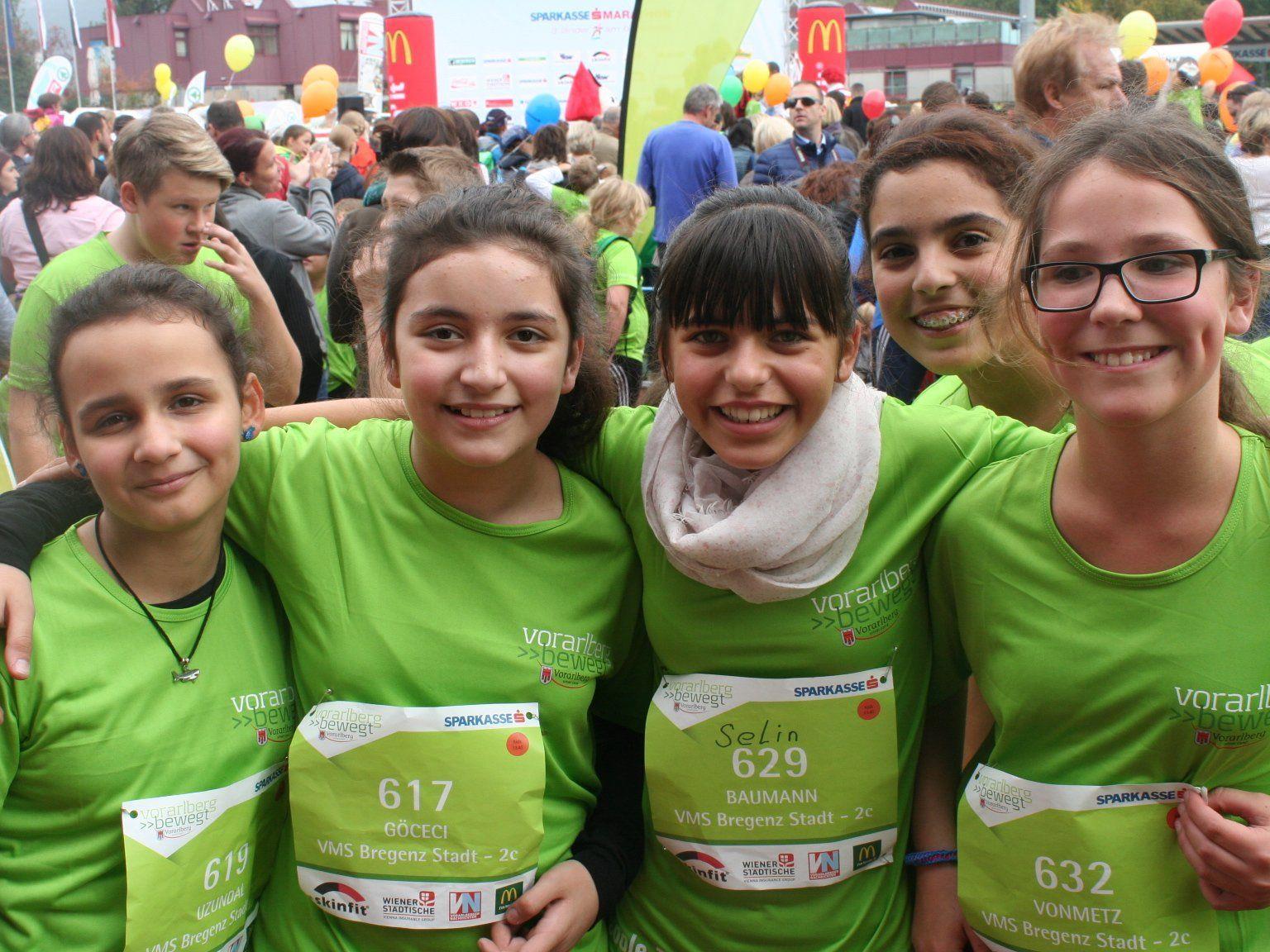 Starterinnen der 2c Klasse der MS Bregenz-Stadt