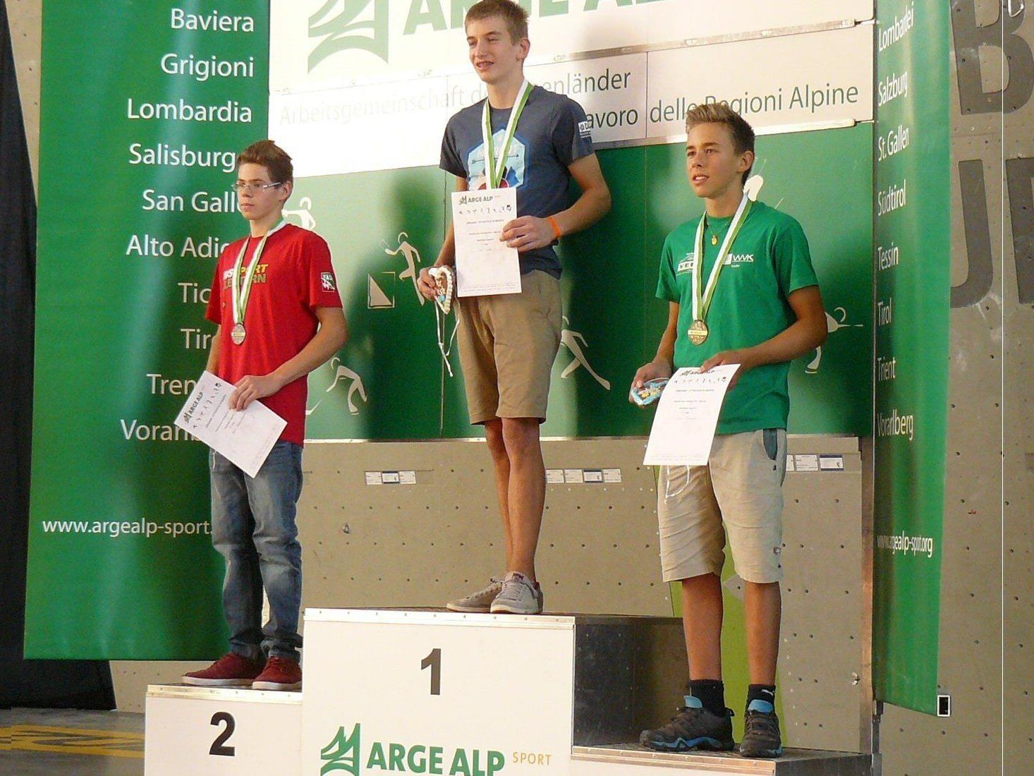 Hofherr und Meusburger wurden Dritte.