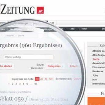 NeueS Service: Online-Suche im Amtsblatt noch besser.
