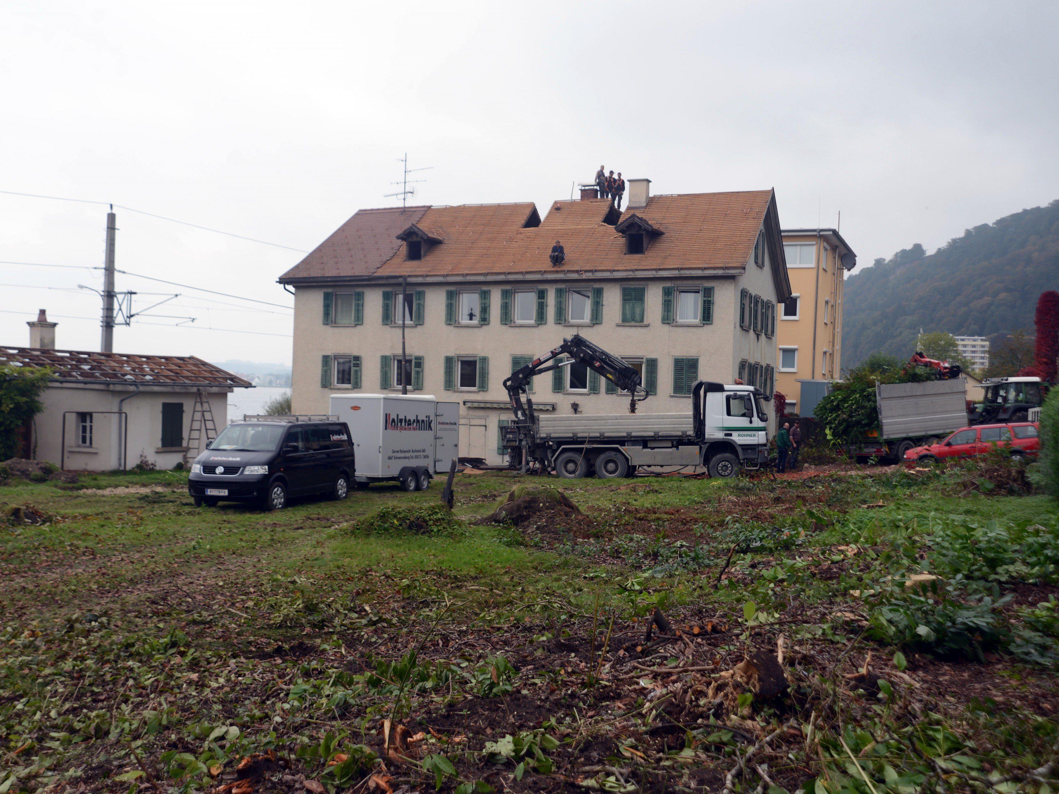 """Auf diesem Areal wird das Wohnprojekt """"Seegarten"""" entstehen."""
