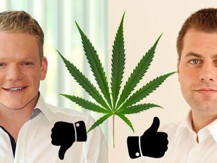 """Christof Bitsch und Michael Pock: Unterschiedliche Ansichten zum Thema """"Legalize""""."""