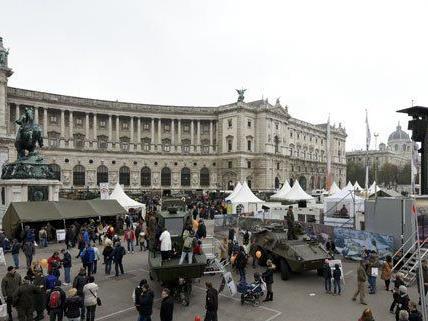 Heuer war der Andrang am Heldenplatz geringer als in den Vorjahren.