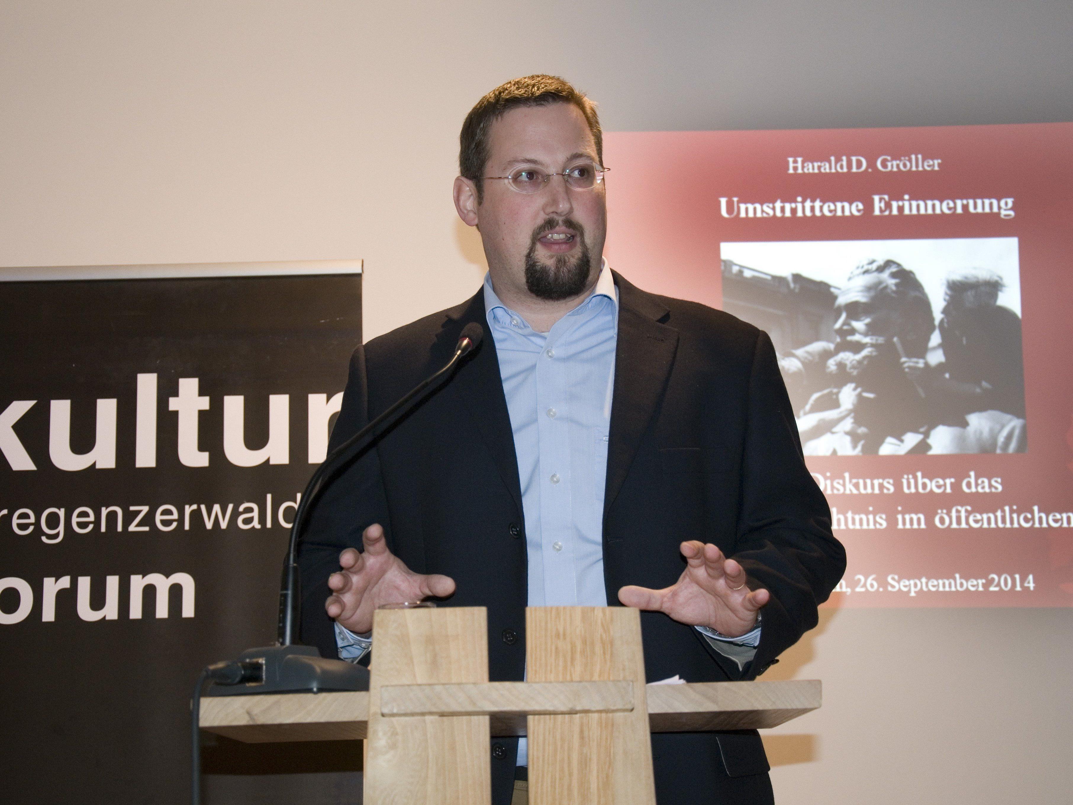 der Vortragende DDr. Harald D. Gröller