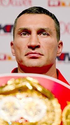 Nur Weltmeister Klitschko nahm an der PK teil