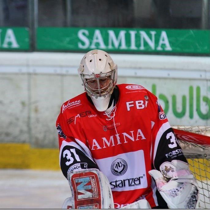 VEU Feldkirch Goalie Bernhard Bock hielt gegen Kitzbühel seinen Kasten rein