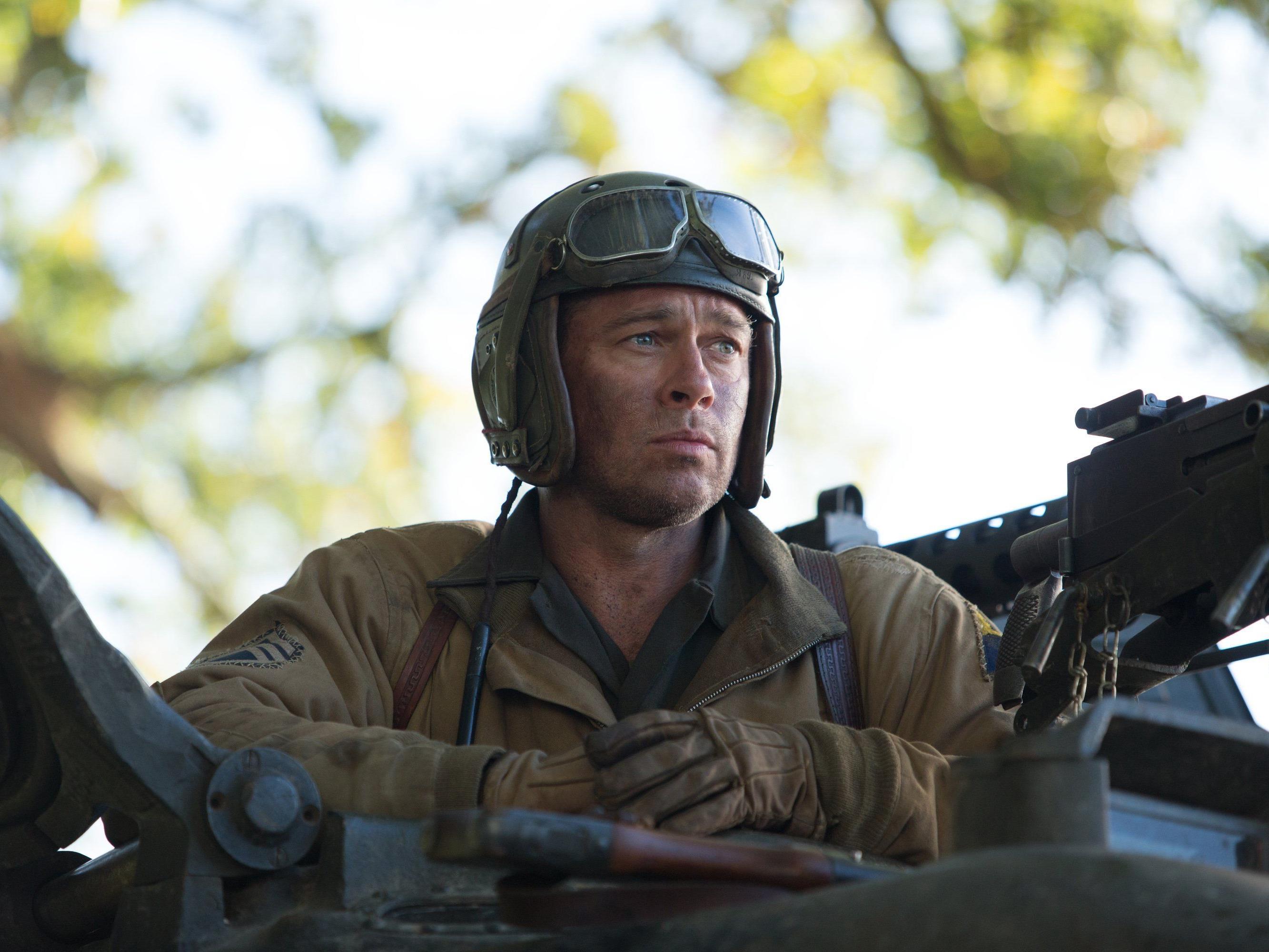 "Brad Pitt im Film ""Herz aus Stahl"" (Originaltitel: ""Fury"")."
