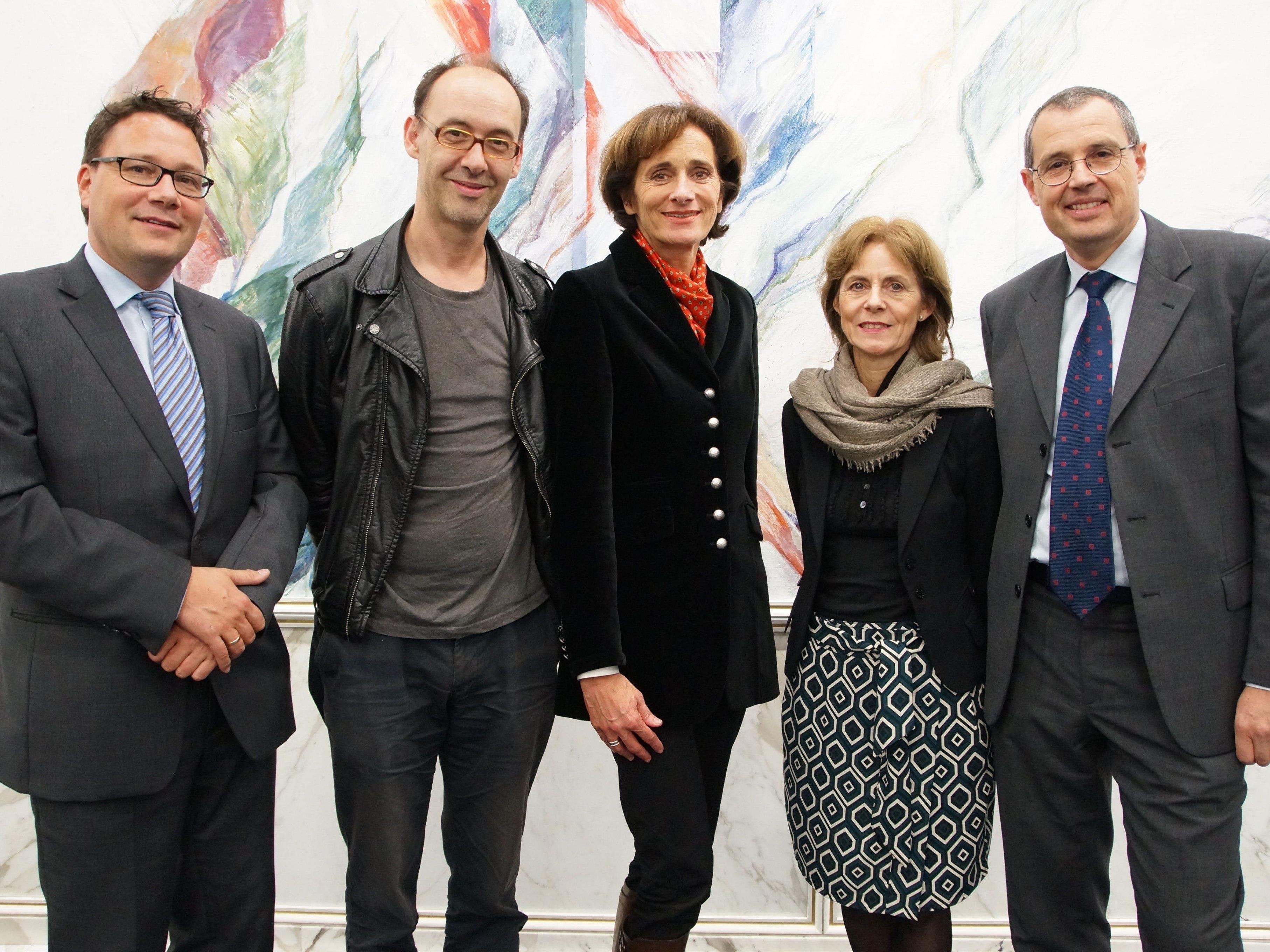 Stefan Fischnaller, Referent Robert Misik, LR Bernadette Mennel, Gabriela Dür, Hans Rapp.