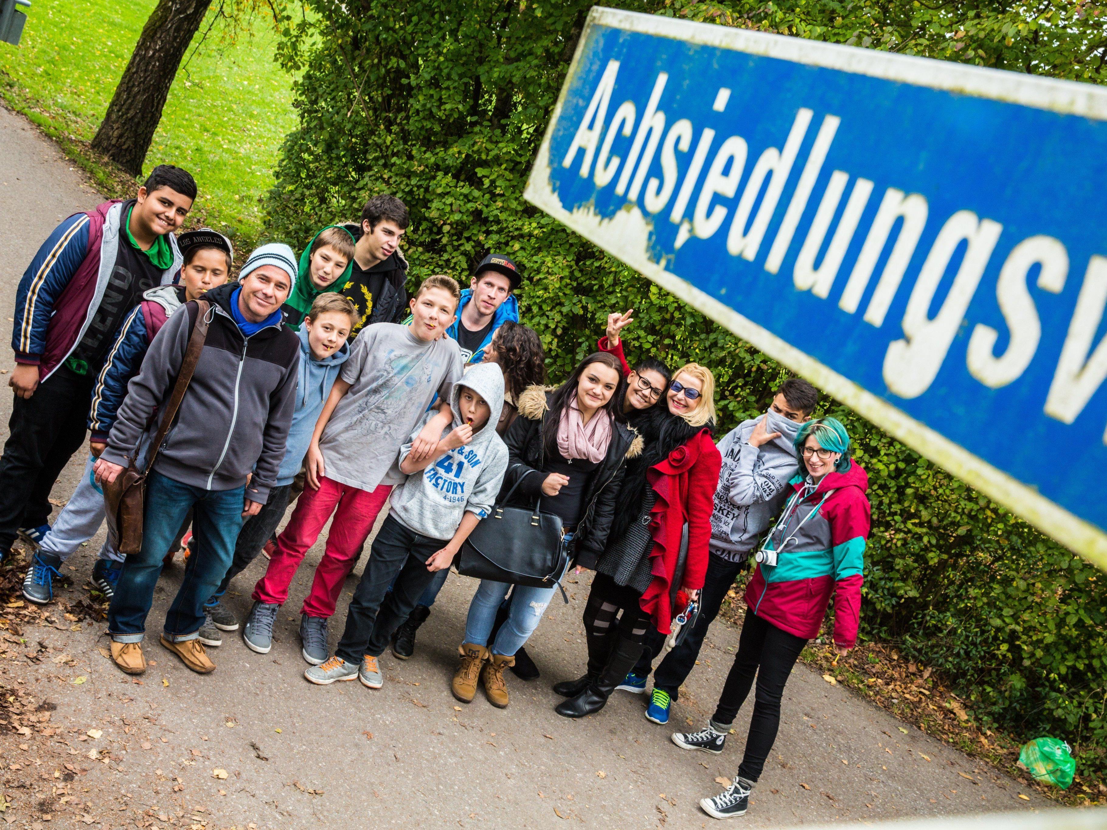 Die Truppe der Offenen Jugendarbeit Feldkirch, zusammen mit Rita Mittelberger (Jugendtreff Westend – Dritte von rechts).