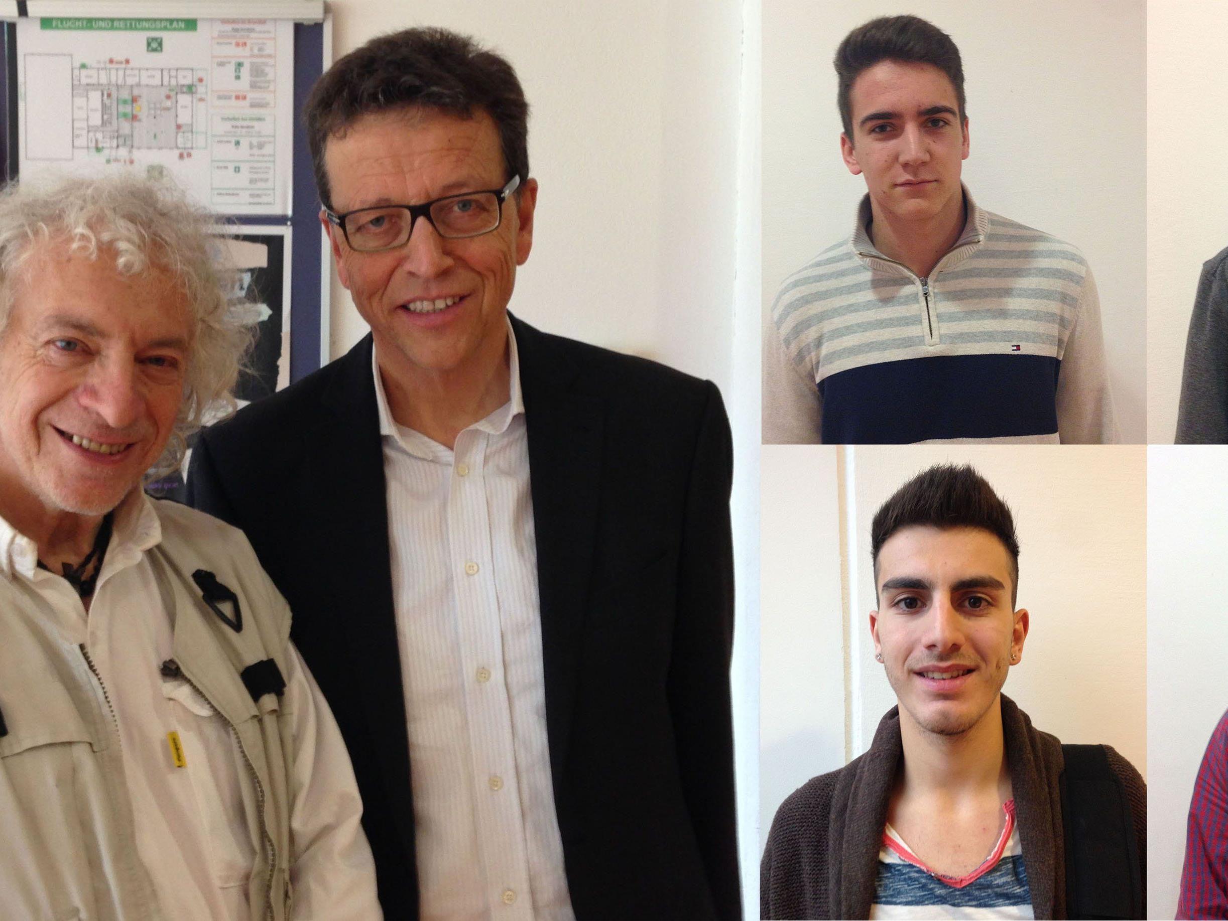 Projekte der Hoffnung am BGBB (v.li.): Montenegro, Amann, Hinteregger, Panic, Demircan, Summer.