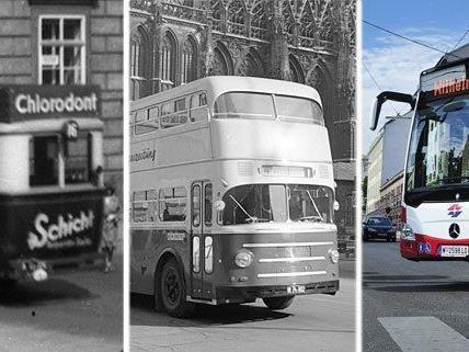 Die Busse in Wien haben sich im Laufe der Jahre gehörig gewandelt