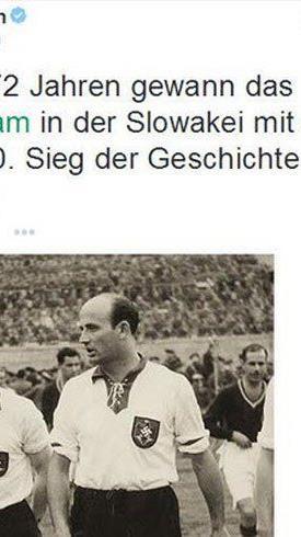 DFB sorgt mit unreflektiertem Tweet zu Spiel der Nationalelf in der Nazizeit für Aufregung.