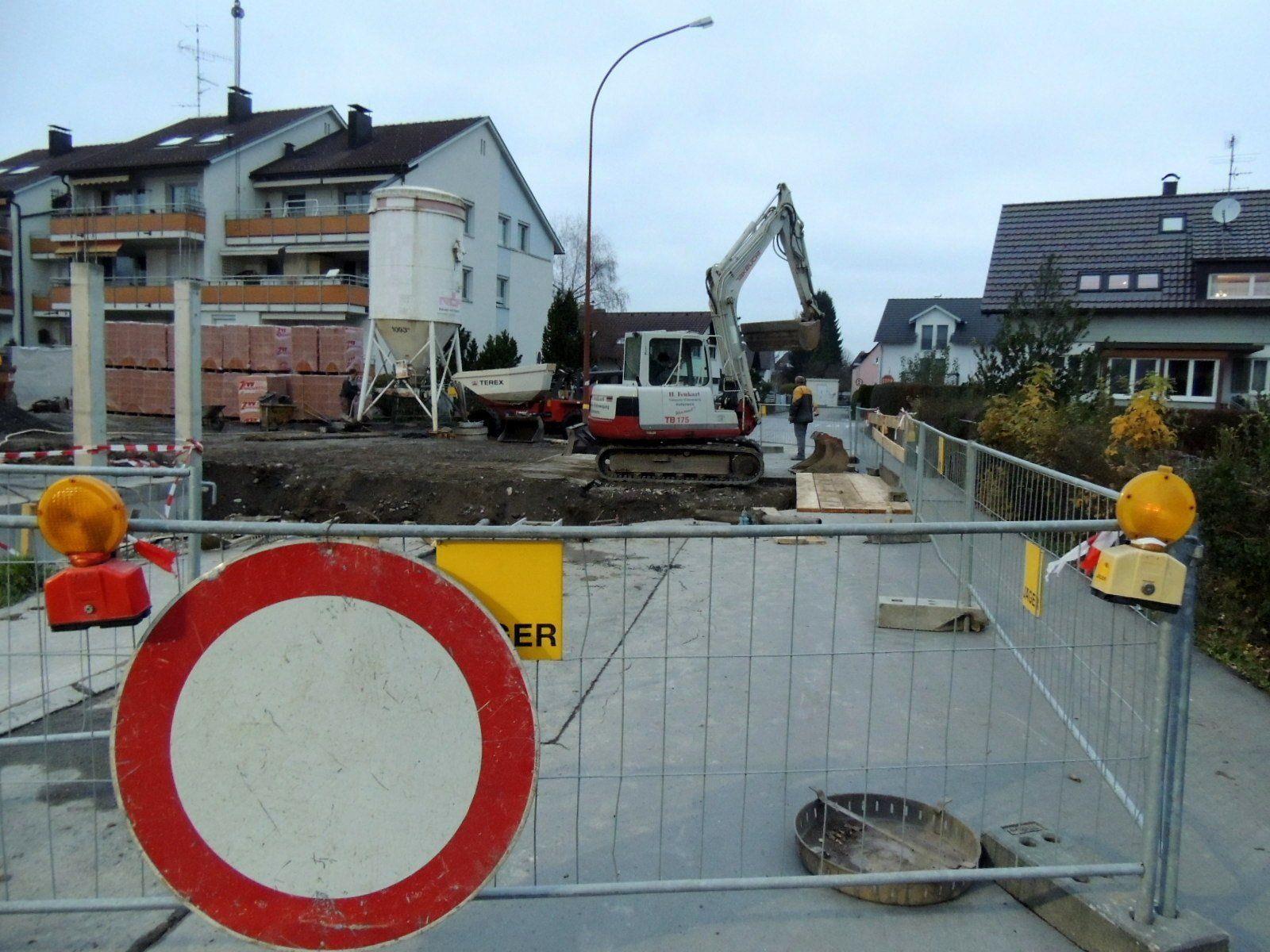 Teilsperre der Steinachstraße