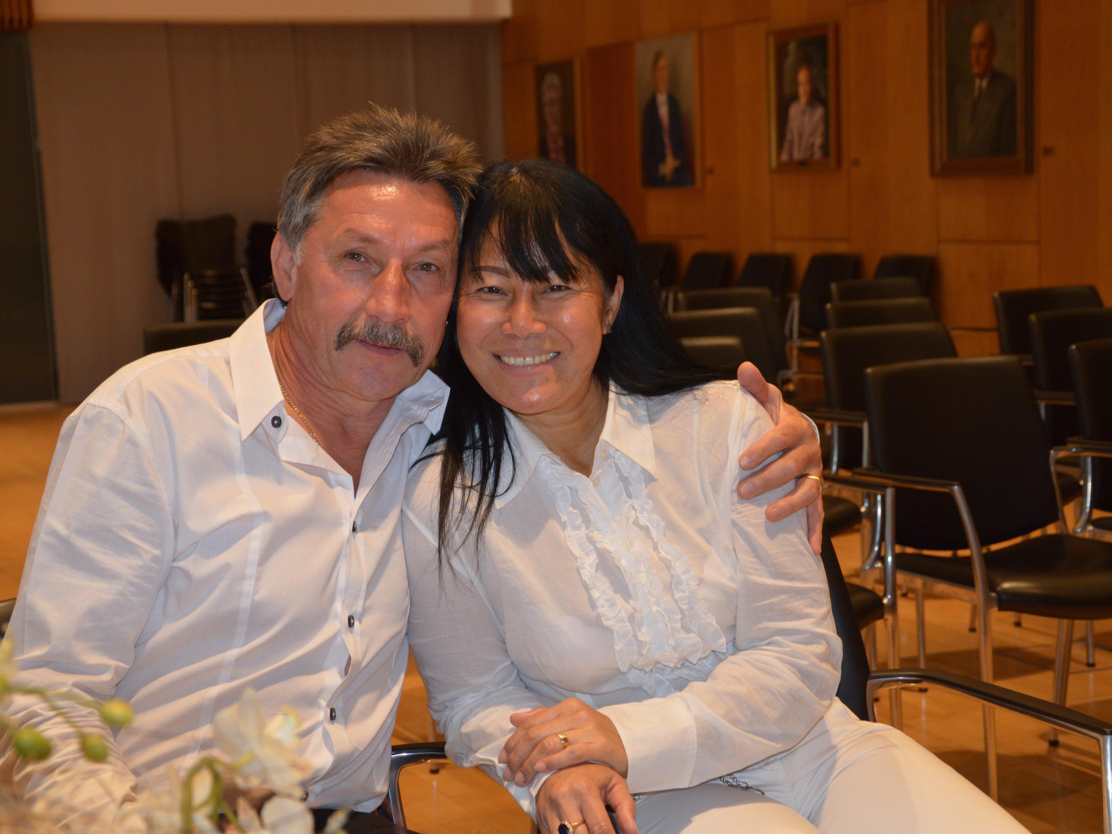 Samai Kasemwong und Erich Grabher Meier haben geheiratet