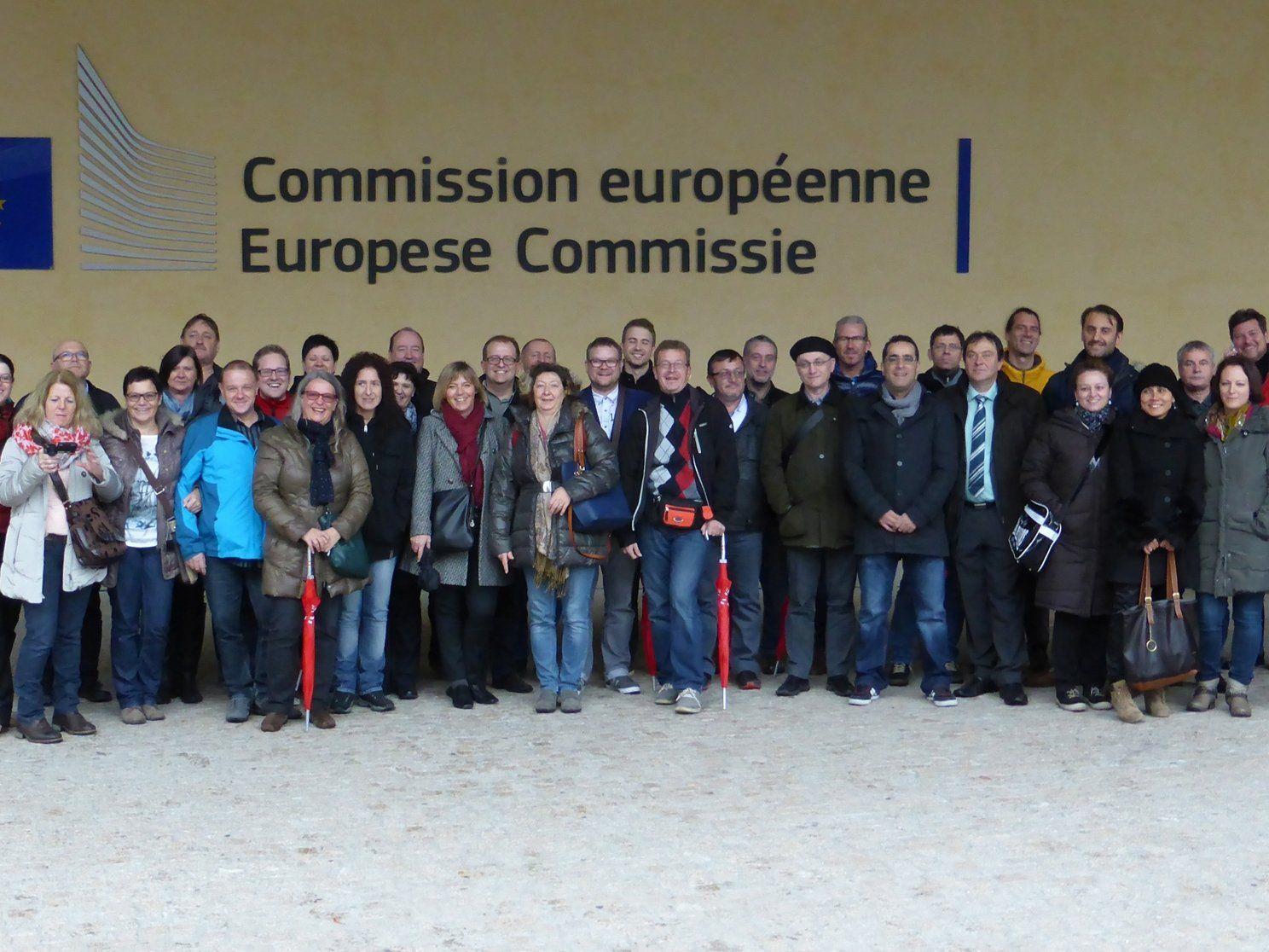Vorarlberger Gewerkschaftsschüler auf Studienreise in Brüssel.